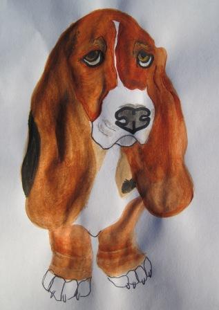 Basset Hound Painting.JPG