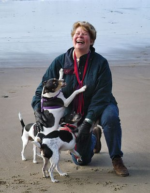Susan Cadell with beloved pack. All photos courtesy of Susan Cadell.