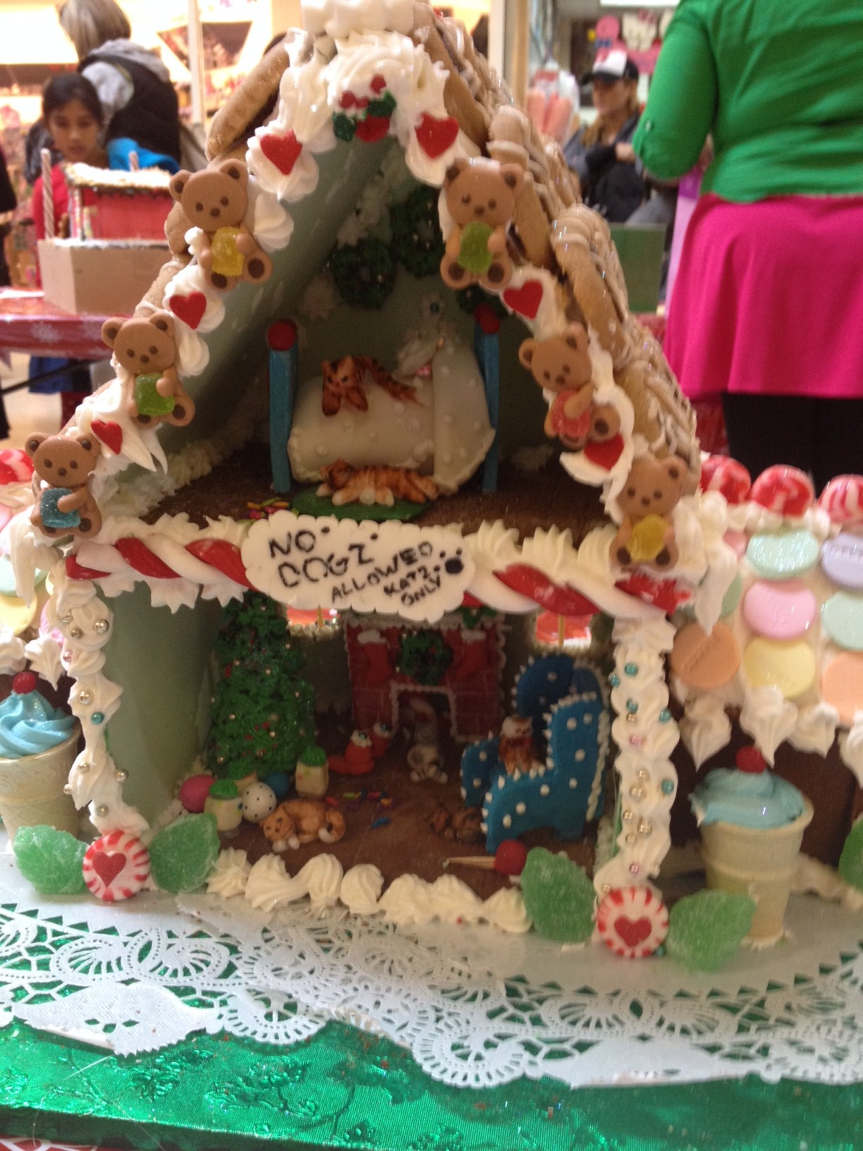 Cats Move to Gingerbread Dream Home