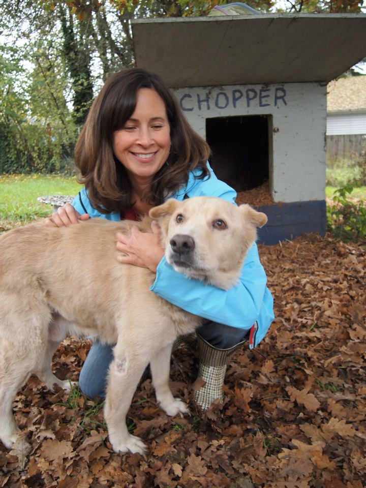 Kelly with Chopper – he was FFF's first fence and the impetus behind Kelly starting the organization