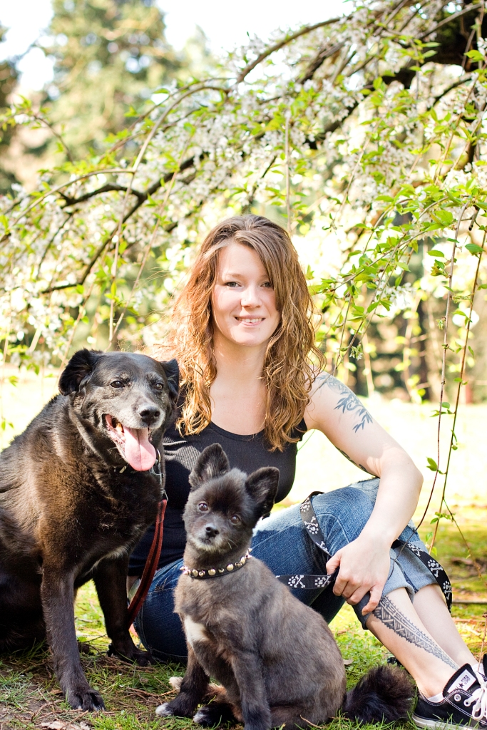 Kristin with Snoose and Chuvian