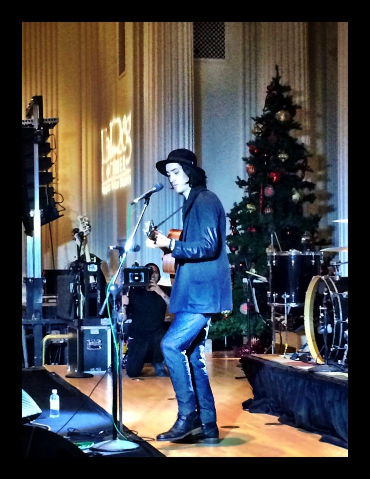 Taylor John Williams performs at 105.1 The Buzz's Deck The Hall Ball