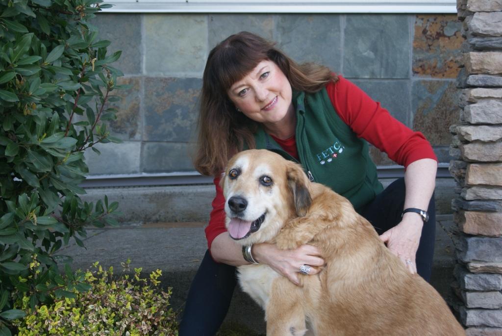 Shannon Priem with FETCH dog Miss Poppy
