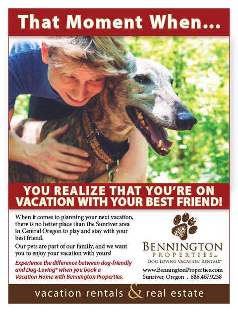 Thank you to  Bennington Properties  in Sunriver for being dog-loving Spot supporters! Check out their amazing vacation rentals!!