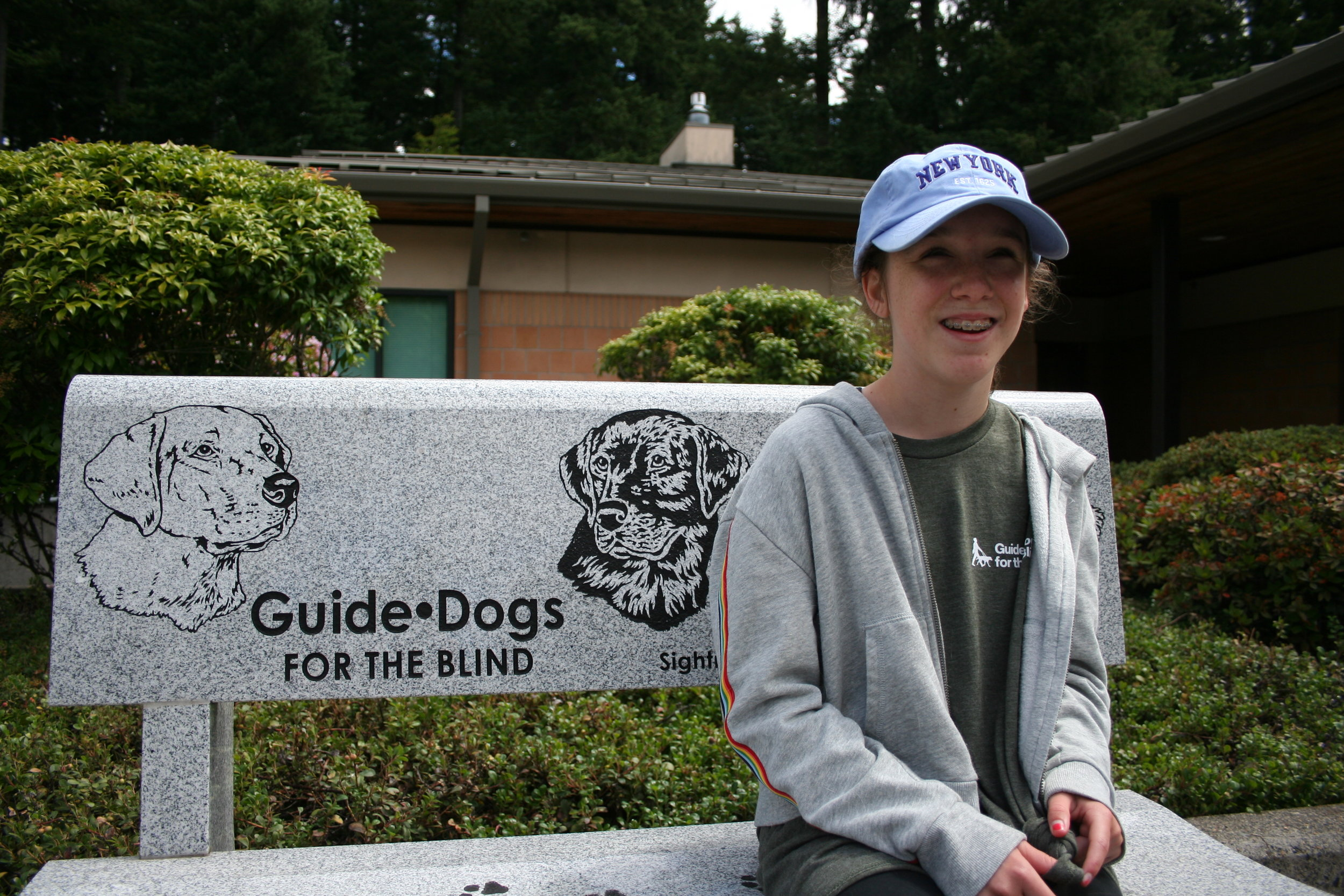 Maya Andrick sees a guide dog in her future.