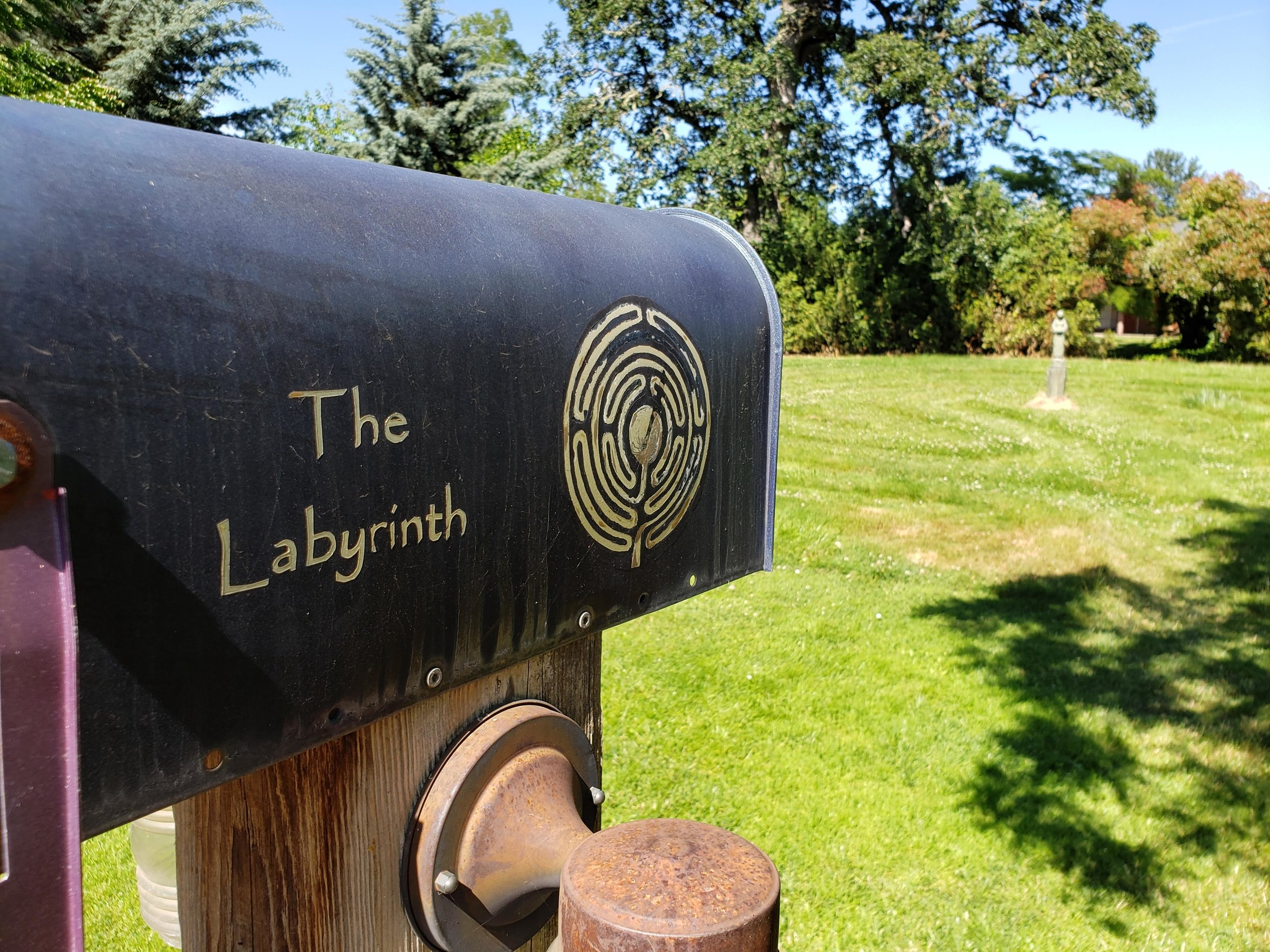 The labyrinth: one of the dog-friendly outdoor spaces at The Village Green