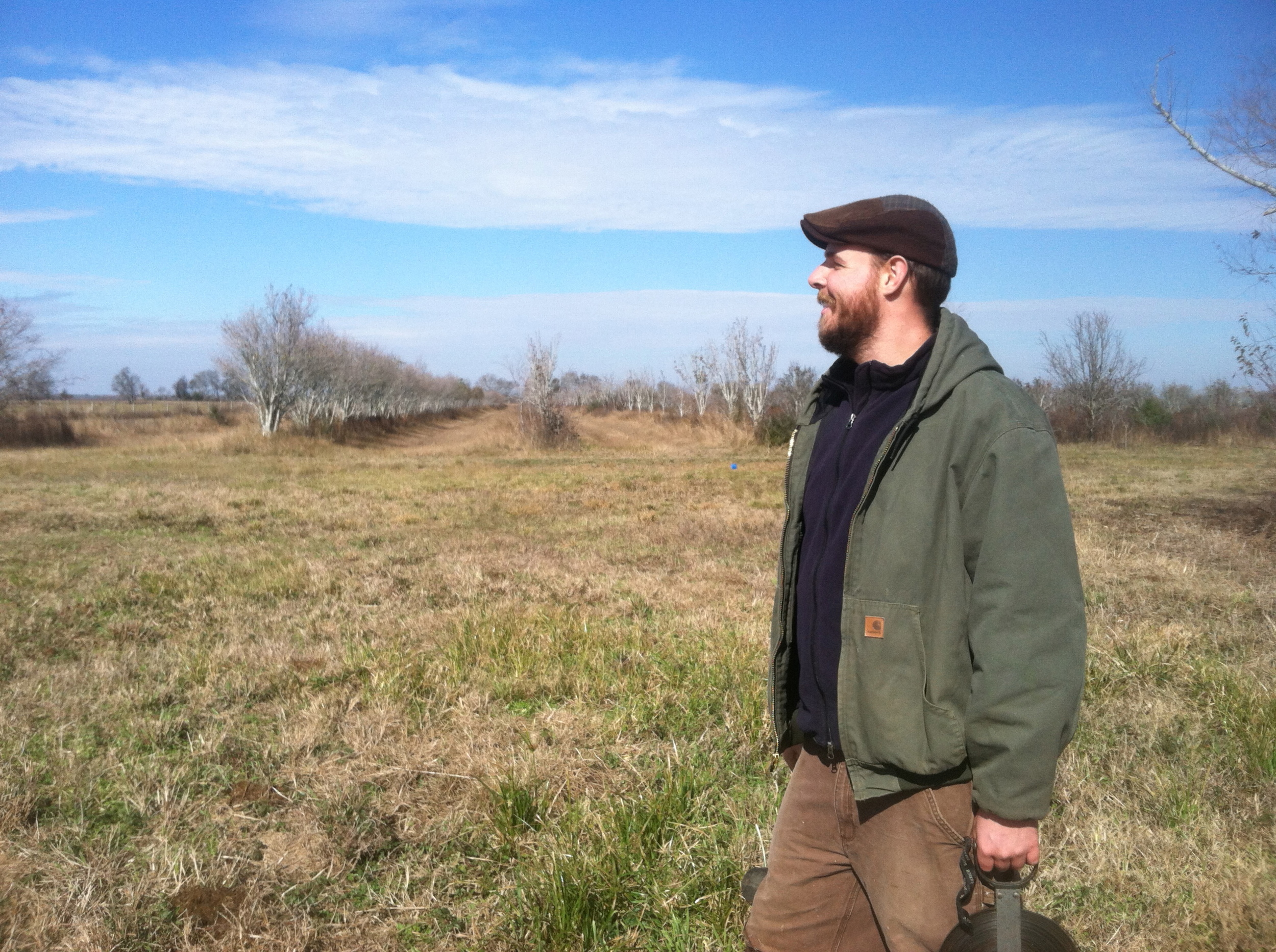 McFarmer looks upon the orchard. Pears and pears to come...