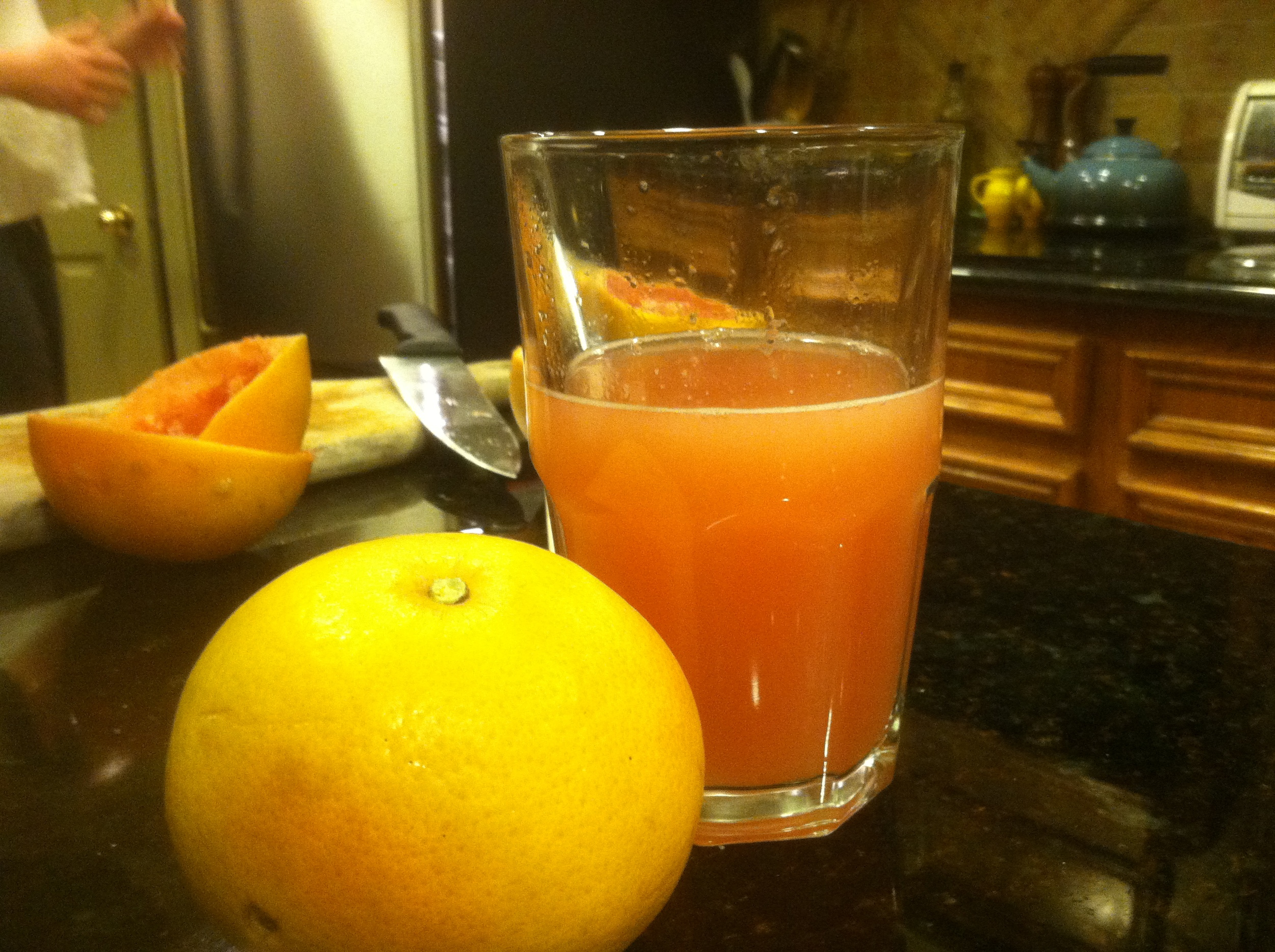 It took about 3 of our grapefruits to get this amount of juicy juice.