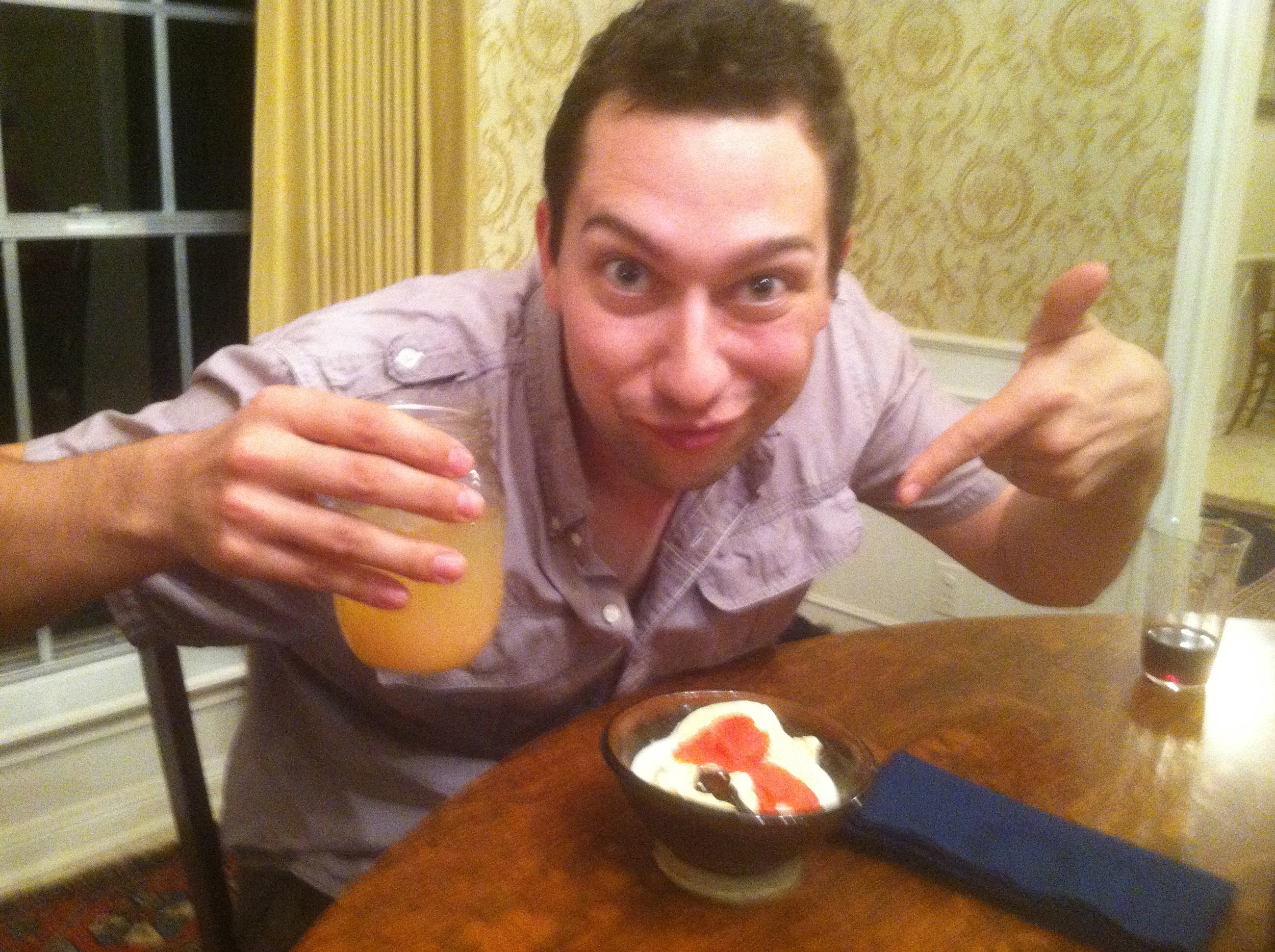 """Zach says """"yes"""" to grapefruit-laced cocktails and ice cream."""