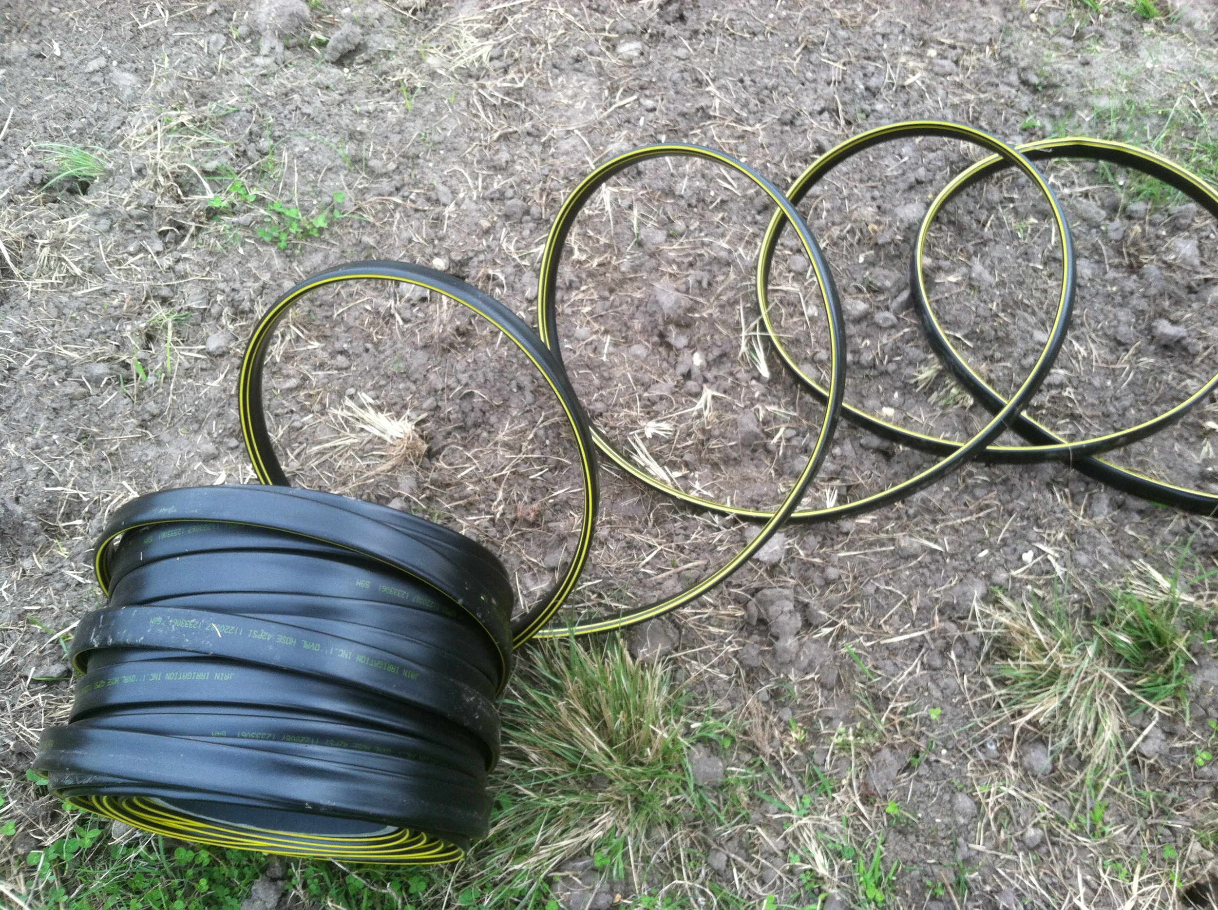 The supply line in all its thick plastic glory.