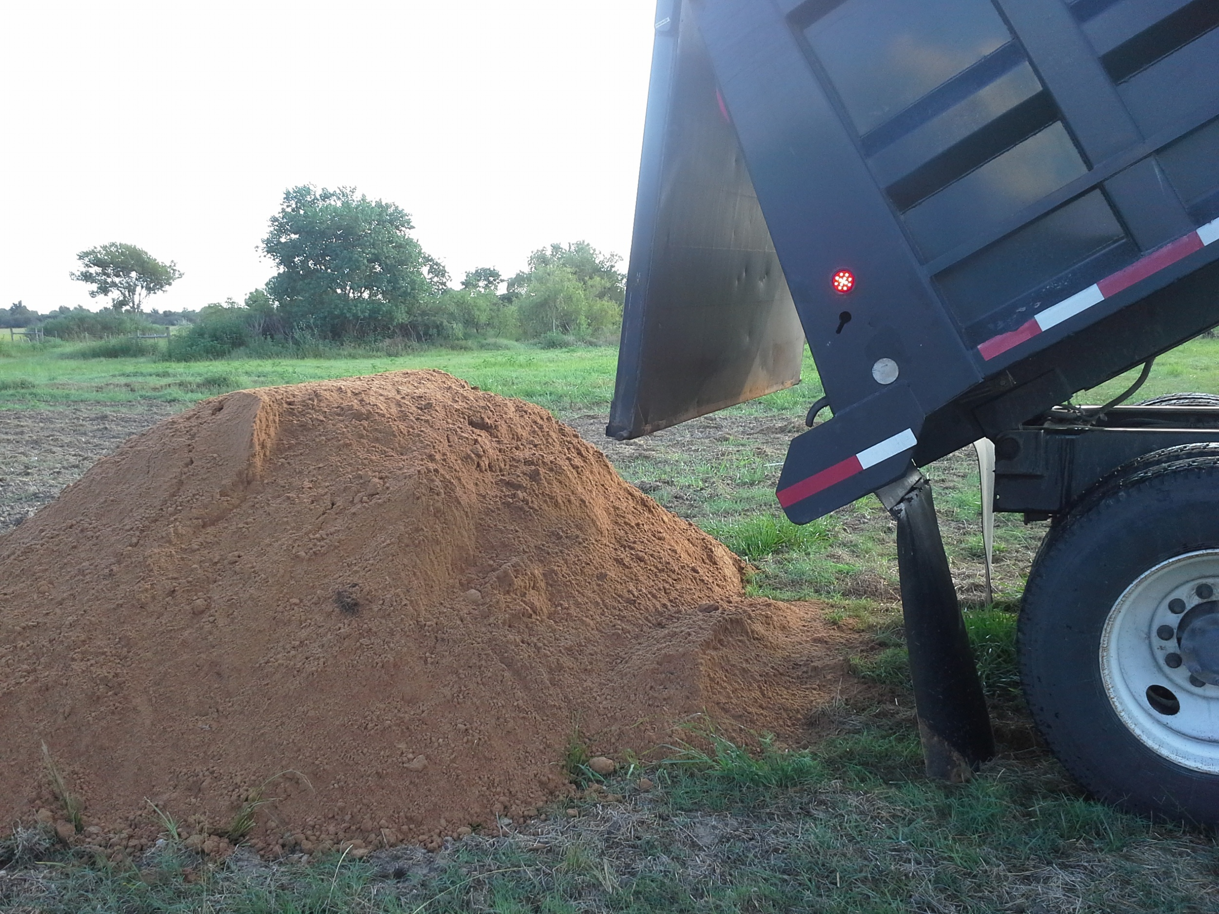 What 12 yards of topsoil looks like...