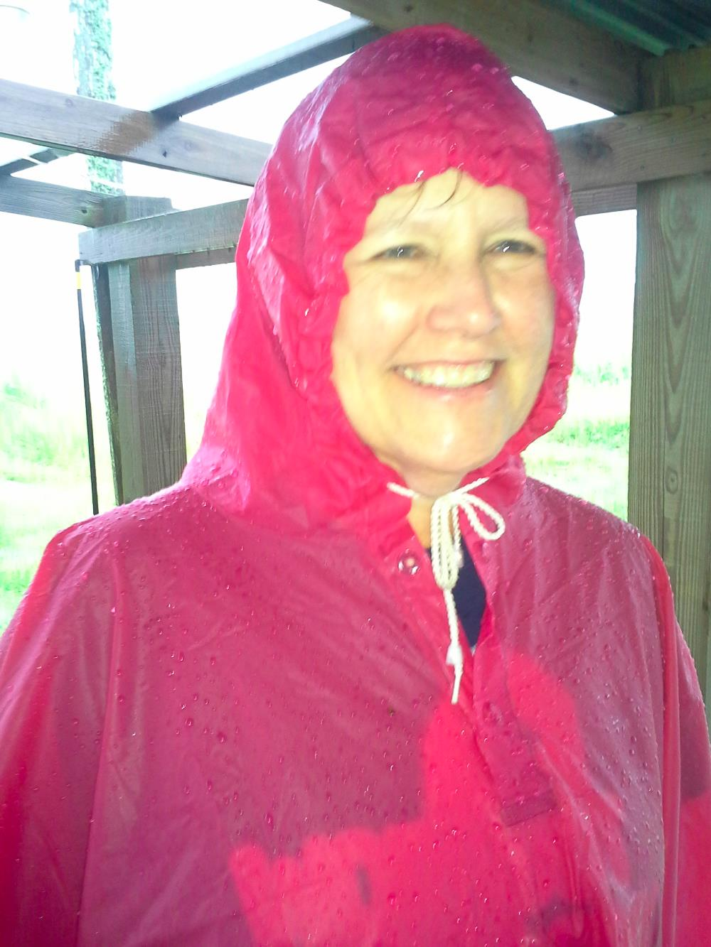 McMomma soaked but happy!