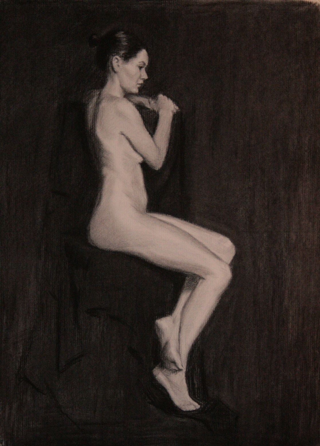 Nude,  Charcoal on Paper, 60 x 42cm, 2008