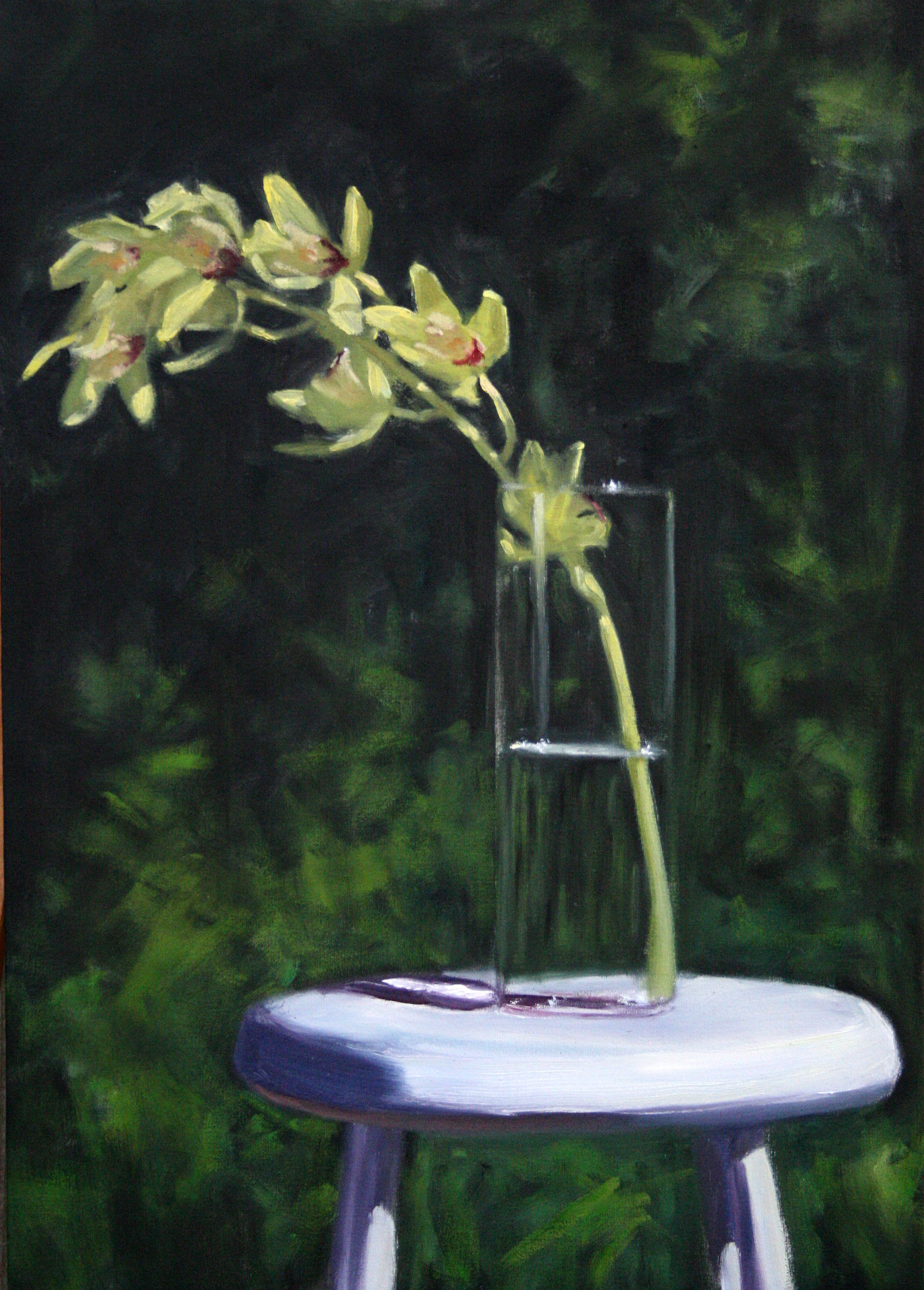 Still Life with Orchid,  Oil on Canvas, 60 x 50cm, 2007