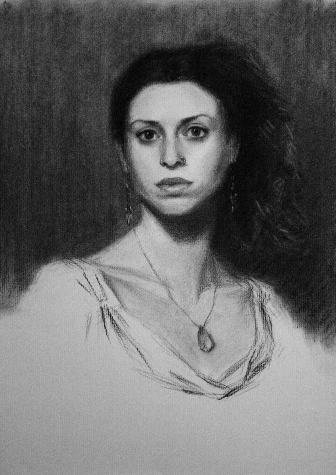 Ambra, Charcoal on Paper, 60 x 42cm, 2008