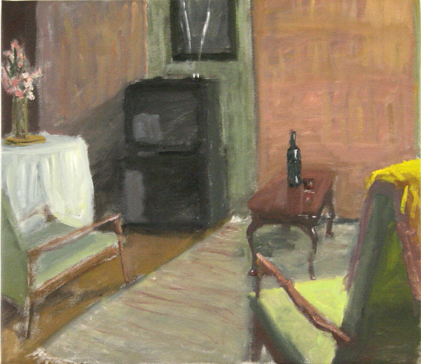 Nairn Street, Oil on Canvas, 50 x 60cm, 2007