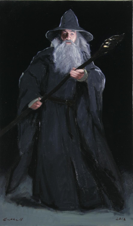 Gandalf, Oil on Linen, 84 x 51cm, 2012