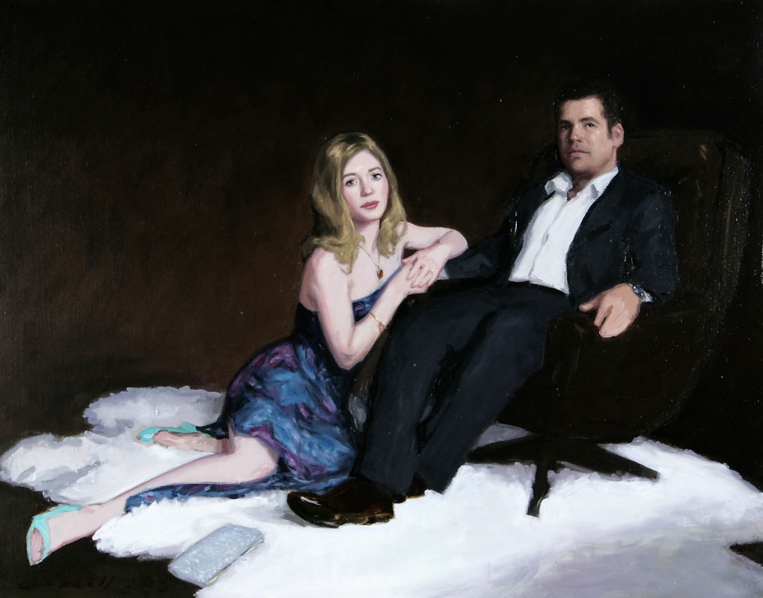 Will and Emily,  Oil on Linen, 84 x 107cm, 2013
