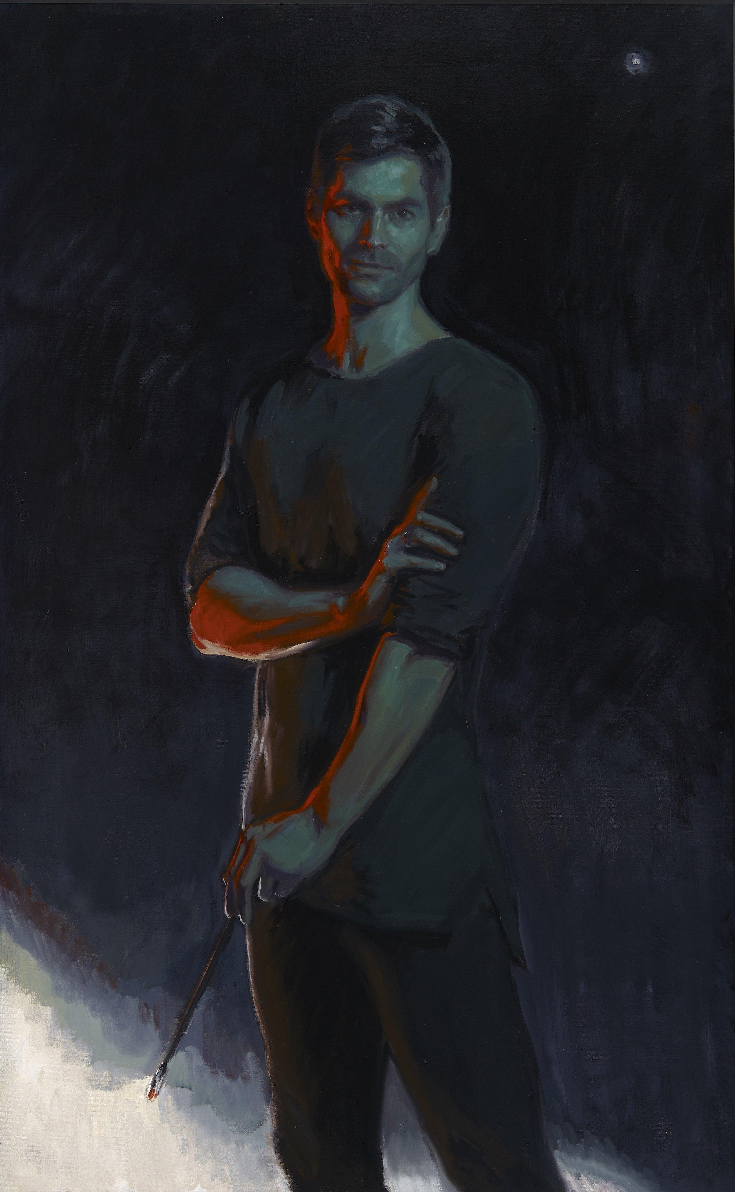 Self-Portrait, Oil on Canvas, 85 x 145cm, 2017
