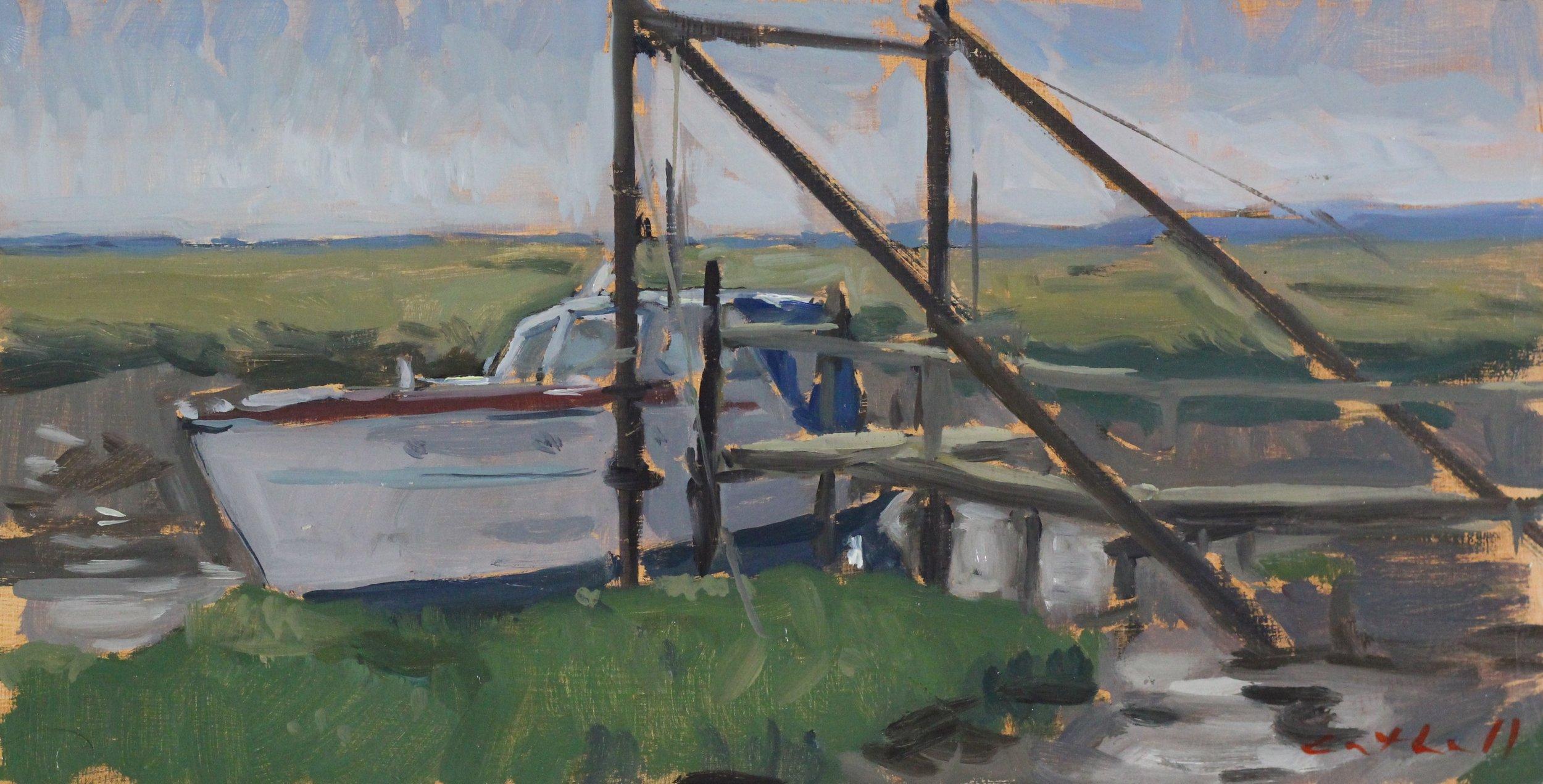 Norfolk, Oil on Panel, 18 x 35cm, 2017