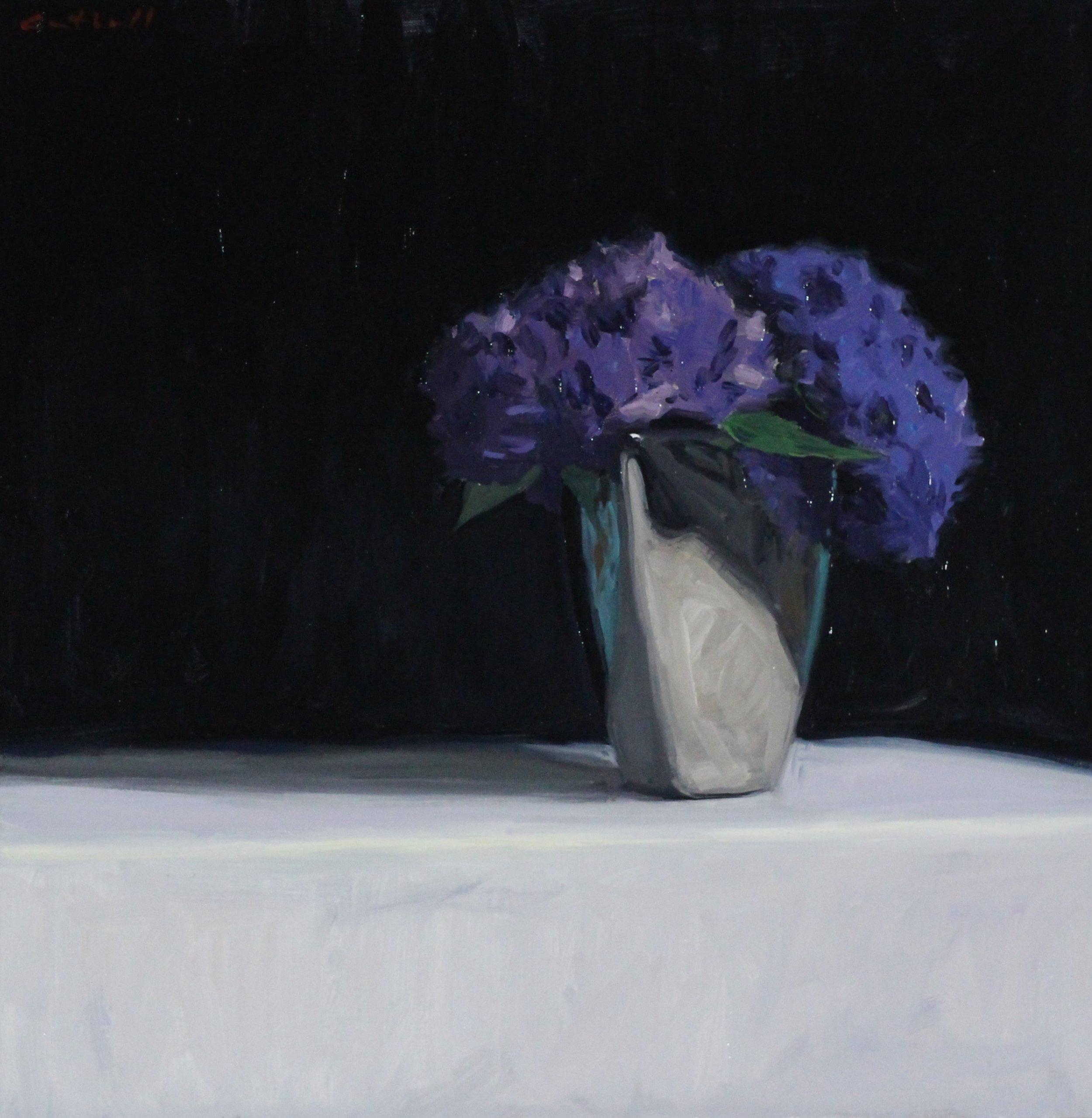 Hydrangea, Oil on Canvas, 45 x 45cm, 2017