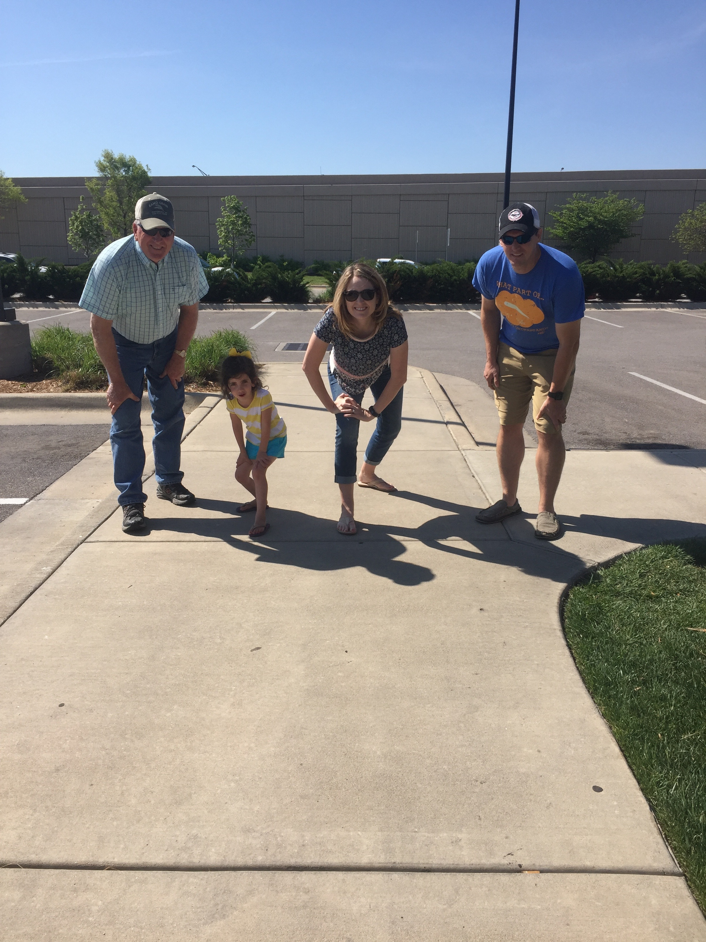 Longhorn wasn't open yet, so Special K entertained everyone by making them do footraces.