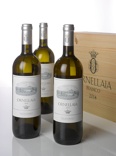 LOTS 239 TO 246. ORNELLAIA BIANCO 2014 (8 LOTS OF 6 BOTTLES). ESTIMATE $1,000–1,500 PER LOT.