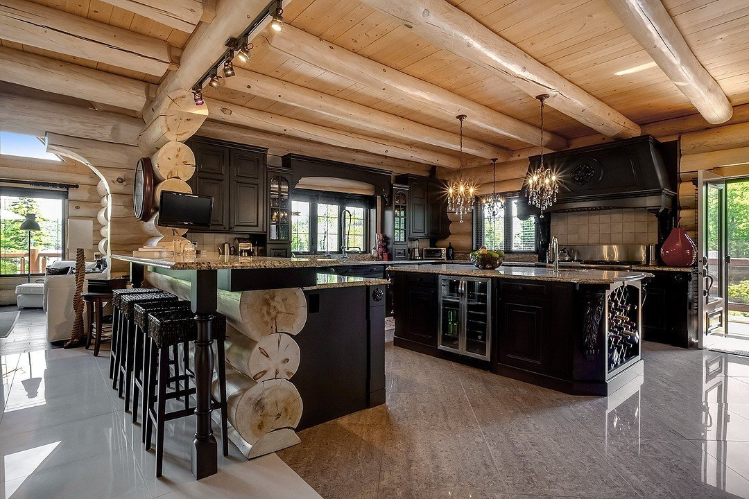 Rustic Chic Log Cabin by Lac-aux-Sables