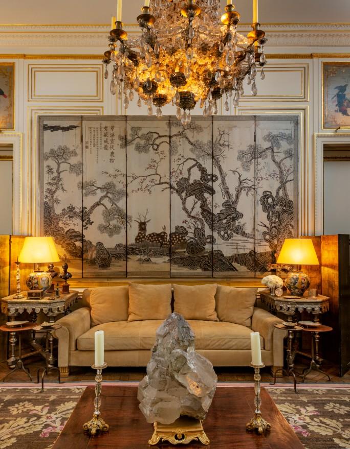 PIERRE BERGÉ'S HOME IN THE RUE BONAPARTE IN PARIS