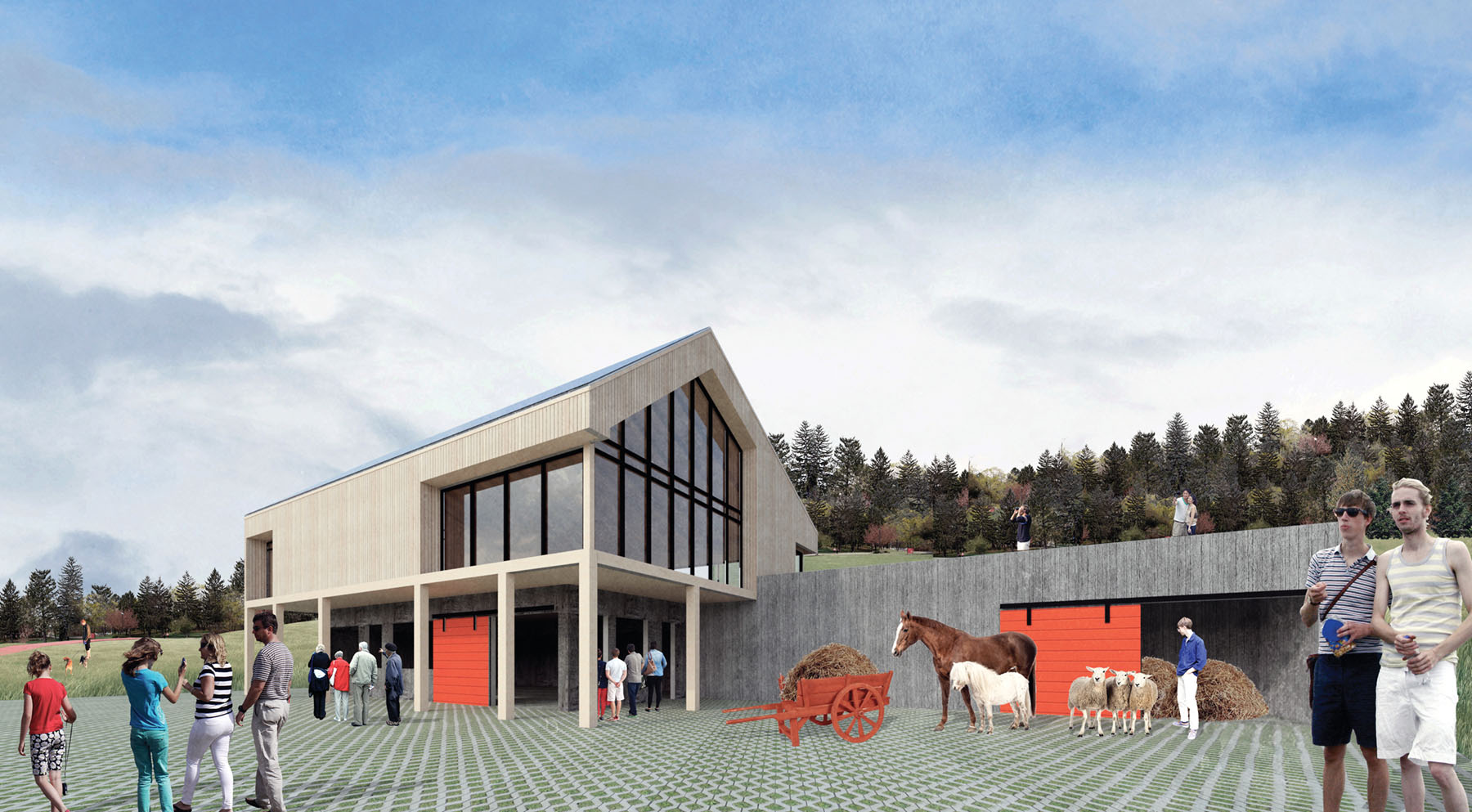 A render of a restoration project by Woodward Sheppard Architects - O'Brian Farm