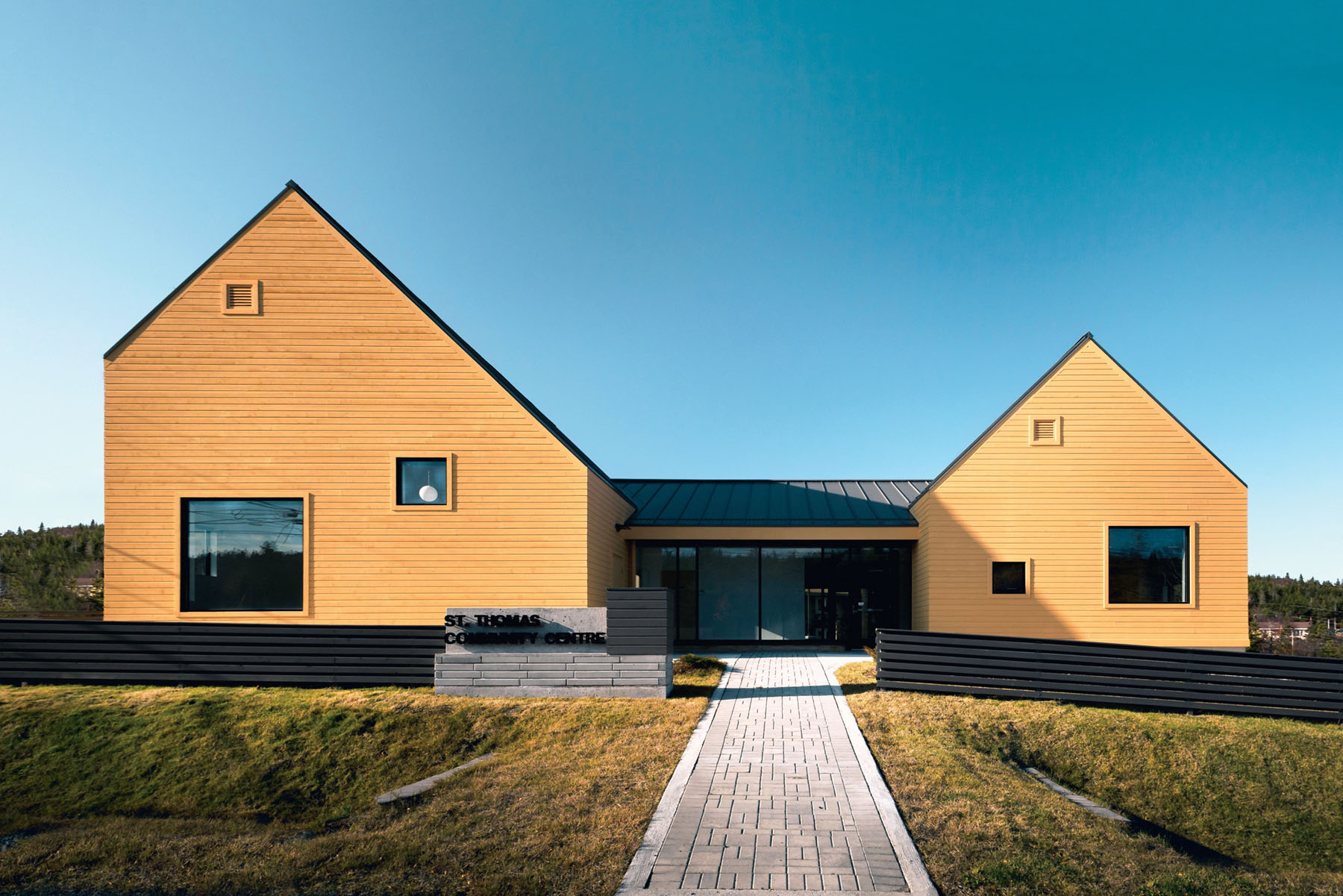 St. Thomas Community Centre in Paradise, Newfoundland was reinterpreted in a modern context