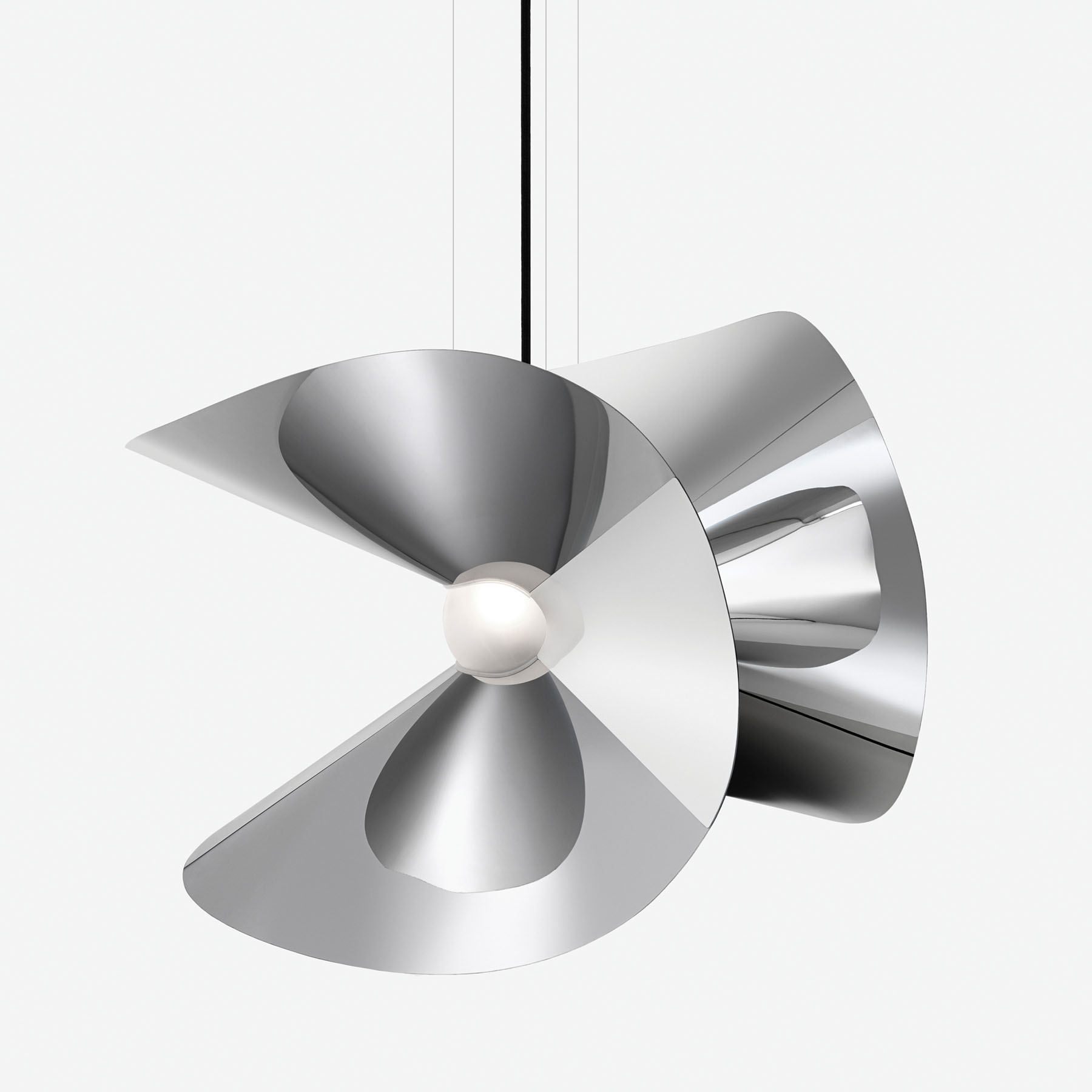 Mariposa, a table lamp doubling as a suspended lighting fixture