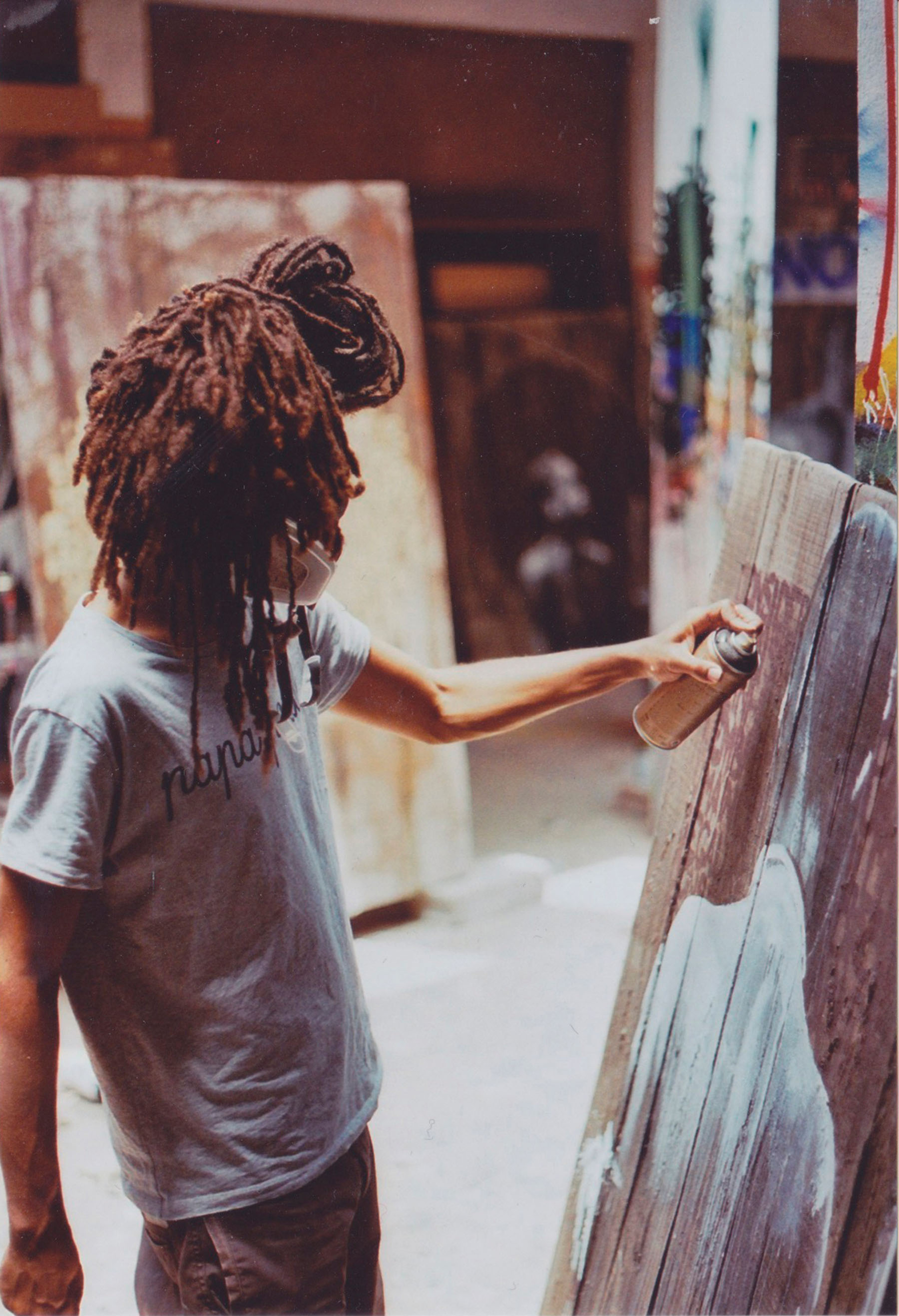 French-born painter at work