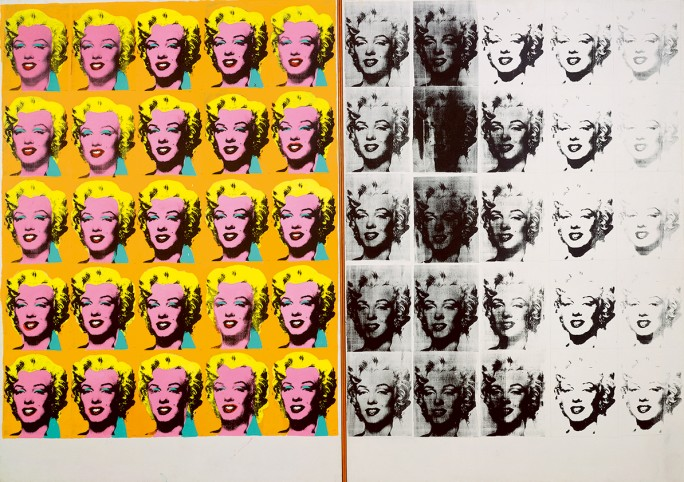 Andy Warhol,  Marilyn Diptych , 1962. Photo: The Andy Warhol Foundation for the Visual Arts, Inc. / Artists Rights Society (ARS) New York. Courtesy: Private collection.