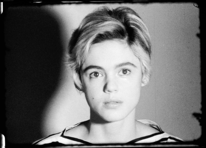 Andy Warhol, ST309  Edie Sedgwick,  1965. 16mm, b&w, silent; 4.5 min. @ 16 fps, 4 min. @ 18 fps. Pictured: Edie Sedgwick. © 2018 The Andy Warhol Museum, Pittsburgh, PA, a museum of Carnegie Institute. All rights reserved.