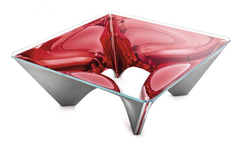 Sir David Adjaye   WASHINGTON CORONA™ (RED) COFFEE TABLE   Estimate 40,000 — 60,000 USD