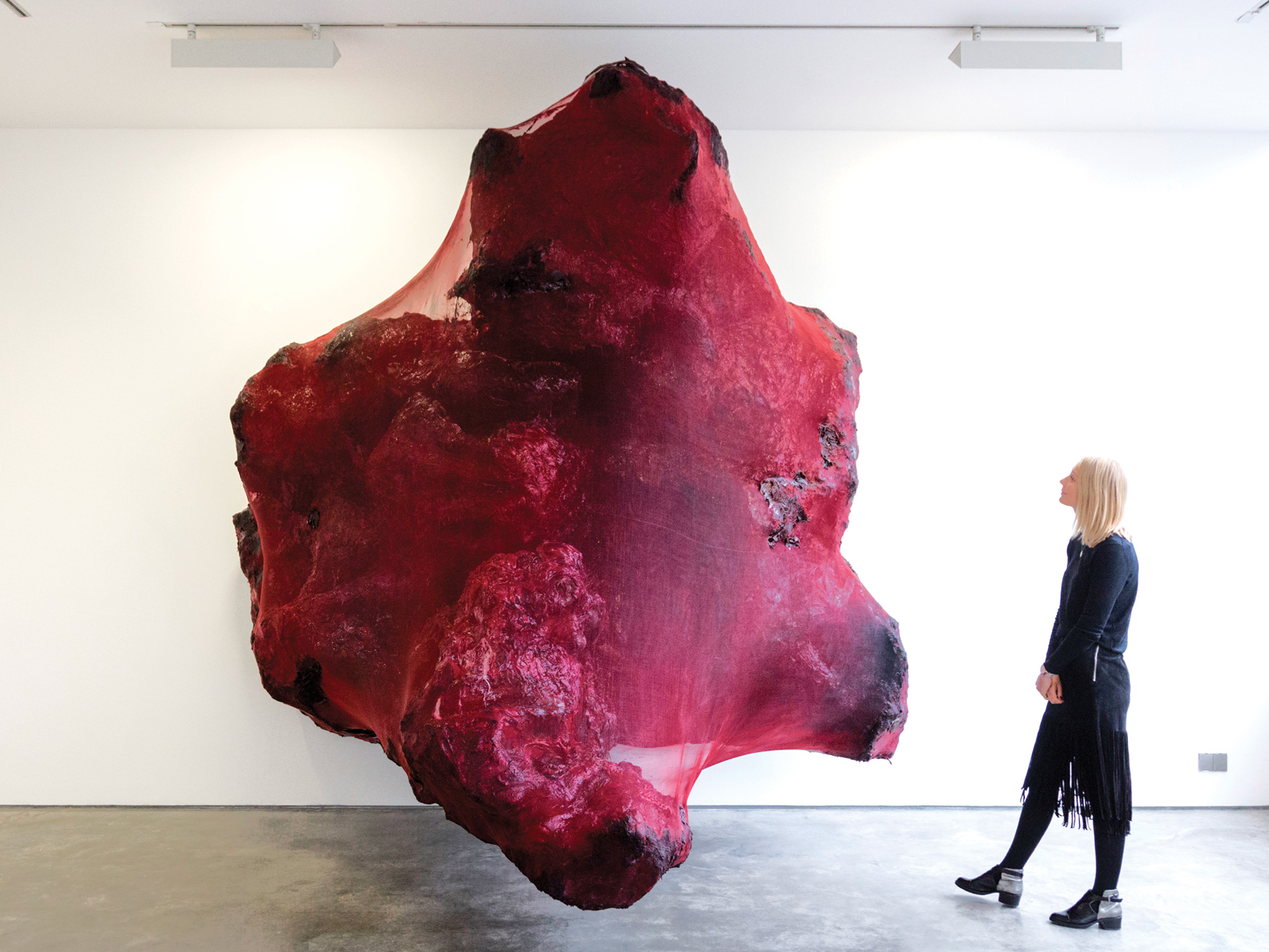 Red Images- in the Red, 2016 Anish Kapoor on view at Lisson Gallery in London, UK