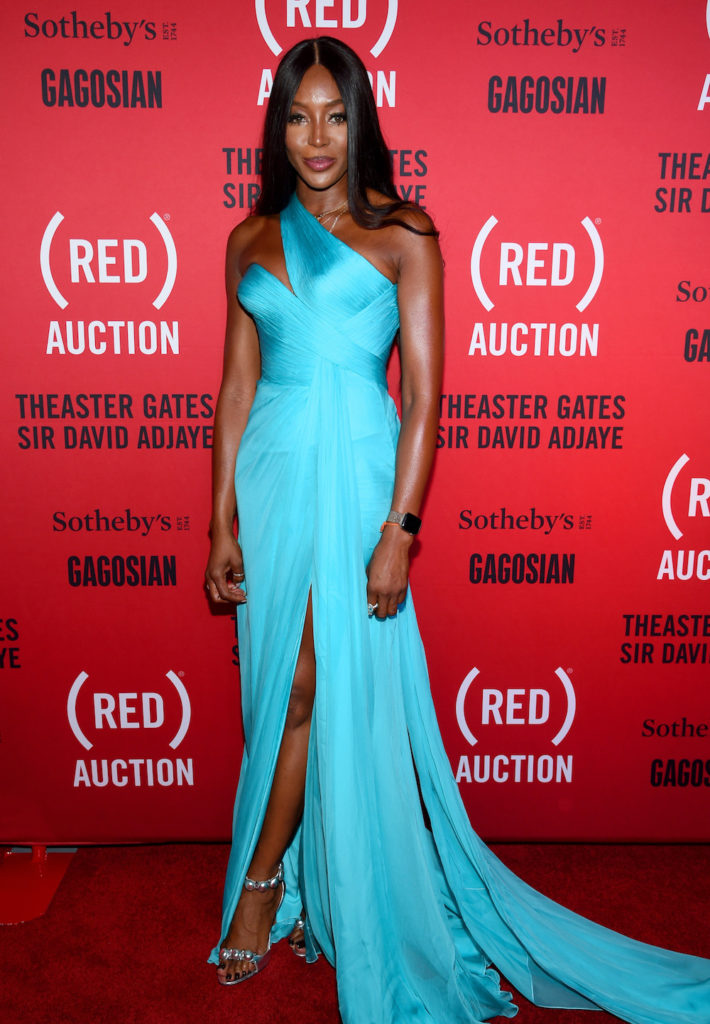Naomi Campbell attends the (RED) Auction with Theaster Gates, Sir David Adjaye and Bono, in collaboration with Sotheby's and Gagosian at The Moore Building on December 5, 2018 in Miami, Florida. (Photo by Dimitrios Kambouris/Getty Images for The (RED) Auction 2018)