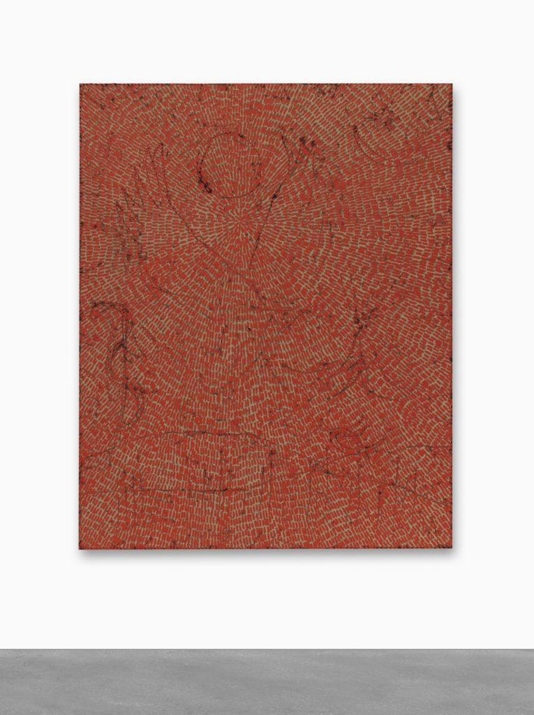 Jennifer Guidi,  Energy of Love (Painted Universe Mandala SF #4F, Red, Natural Ground)  (2018). Courtesy of Sotheby's.