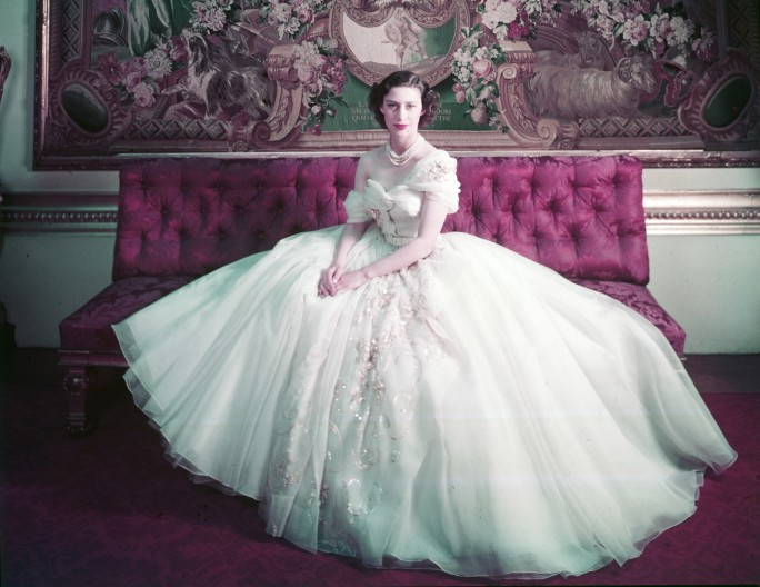 ROYAL PORTRAIT OF PRINCESS MARGARET ON HER 21ST BIRTHDAY. PHOTOGRAPH BY CECIL BEATON (1904–1980) © VICTORIA AND ALBERT MUSEUM, LONDON