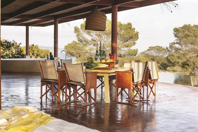 - Philippe Starck's home in Formentera, Spain, has an organic design and is open to the outdoors.