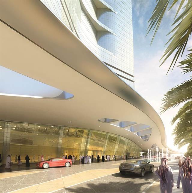 - A rendering of the Jeddah Tower's Entryway