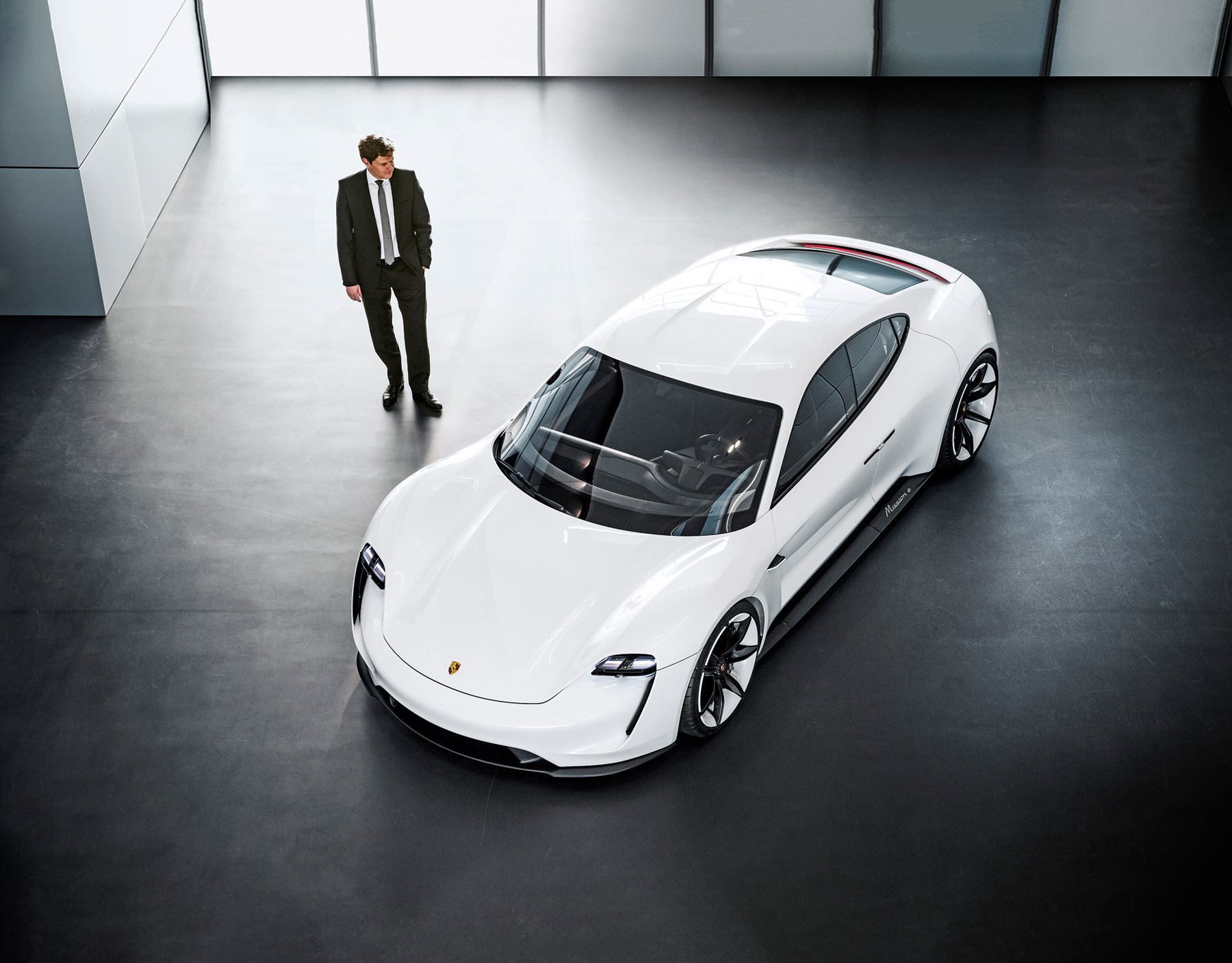 This all-electric sedan with all-wheel-drive, is based on the company's Missions E concept