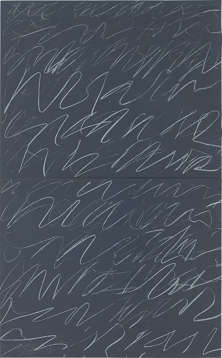 Consistent or flat? Cy Twombly,Untitled(1970) which sold for $4.7m at Phillips last week had previously sold at Sotheby's for $5m in 2015. Courtesy Phillips