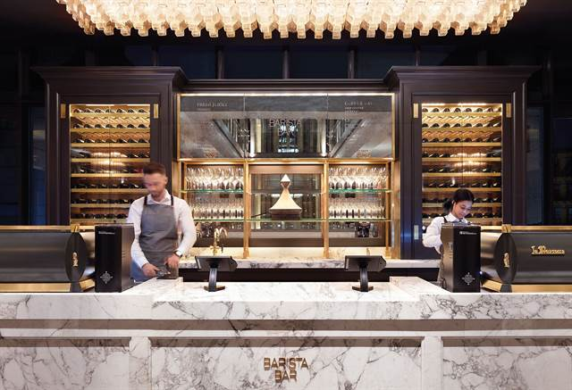 Restoration Hardware's 90,000-square-foot retail experience in New York's Meatpacking District has a restaurant, bar, and lots of furniture and design installations.