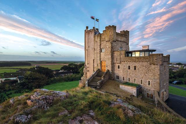 The Roch Castle Hotel in Wales allows guests to feel like actual monarchs