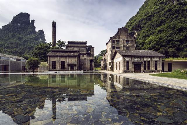 Alila Yangshuo is set inside a former sugar mill in China, among green hills and winding rivers.