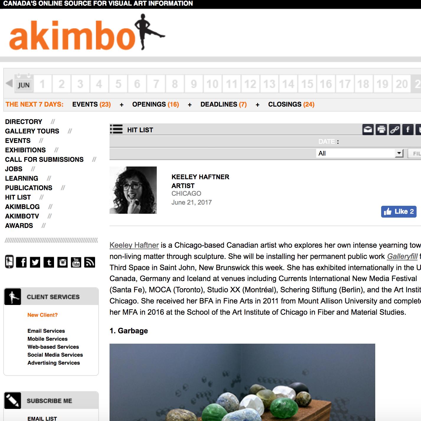 2017: Akimbo Hit List