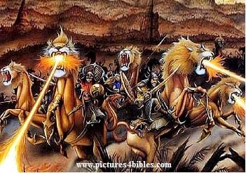 rev. 9.13 - 6th trumpet, 200 million horses