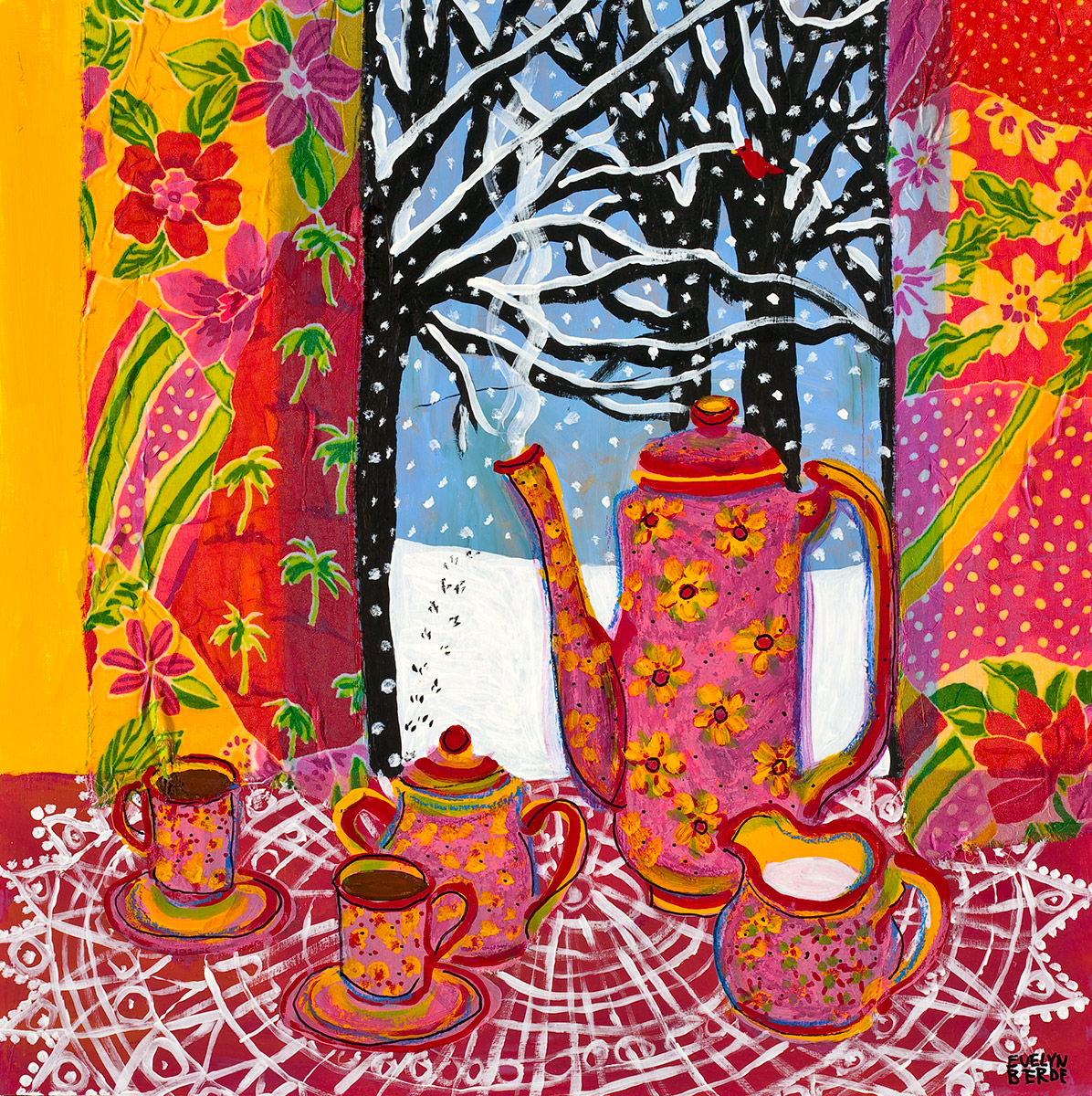 Painting by: Evelyn Berde